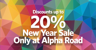 New Year Discounts at Alpha Road