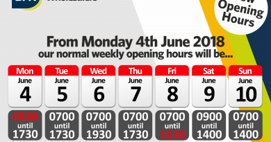 Opening Hours Changes